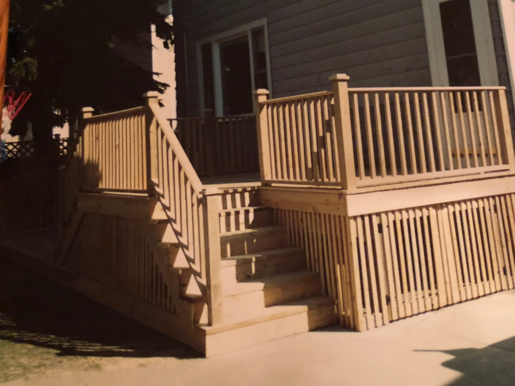 back stairs and deck #2