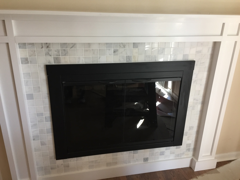 fireplace with tile